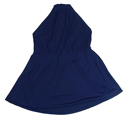 cocoship navy blue s plus size solids a line