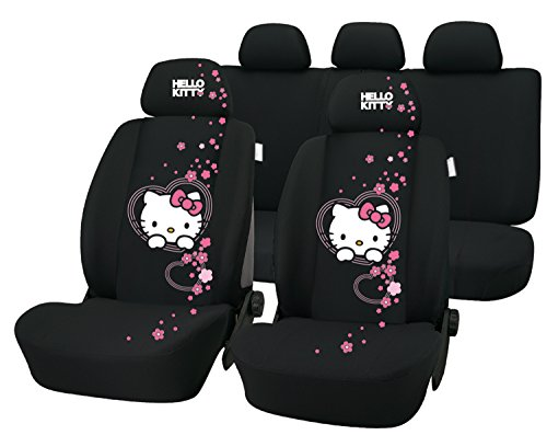 Hello Kitty - 8 Piece Complete Car / Truck Seat Cover Set (Seat Covers) (Hello Kitty Seats Covers compare prices)