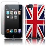 IPOD TOUCH 2 BACK COVER - UNION JACK, WITH SCREEN PROTECTOR 8GB, 16GB, 32GB, 64GB PART OF THE QUBITS ACCESSORIES RANGE