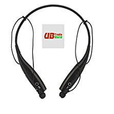 buy Dell Flash Genuine Wireless Sport Handsfree Stereo Bluetooth Universal Vibration Neckband Style Headset Headphone Earphone (Plus Free Microfiber Sticky Screen Cleaner) Black