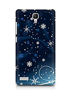 Amez designer printed 3d premium high quality back case cover for Xiaomi Redmi Note (Christmas)