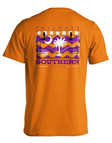 College Tailgate - Palmetto Orange - Chevron Cooler - Small - T-Shirt front-132987