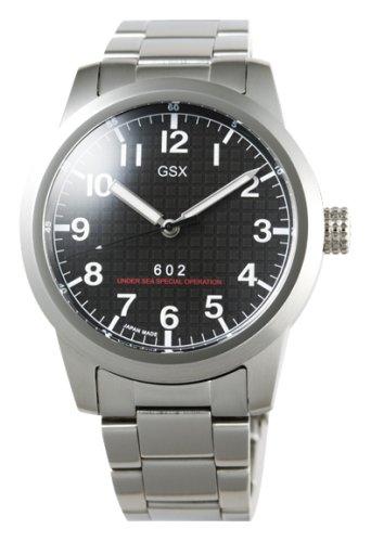 GSX (ジーエスエックス) 腕時計 AUTOMATIC オートマチック GSX602SBK メンズ