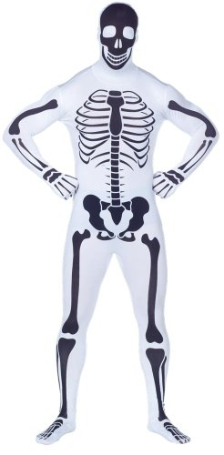 Adult Inverse Skeleton 2nd Skin Zentai Super Suit Costume