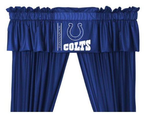 Indianapolis Colts Window Treatments Valance and Drapes at Amazon.com