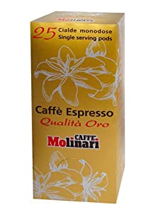 Choose Coffee Pods - Molinari Caffè Espresso 25 Single Serving Pods from Molinari