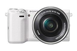 Sony NEX-5TL/W Mirrorless Digital Camera with 16-50mm Power Zoom Lens (White)