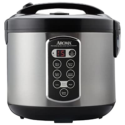 Aroma Professional 20-Cup (Cooked) (10-Cup UNCOOKED) Digital Rice Cooker, Food Steamer & Slow Cooker (ARC-2000ASB) from Aroma Housewares