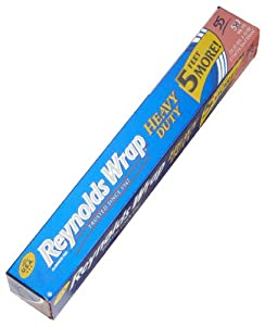 REYNOLDS WRAP Aluminum Foil Heavy Duty, 55-square feet Boxes (Pack of 5)