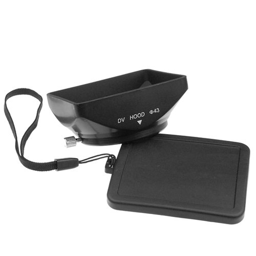 Mennon Dv-B 43 43Mm Digital Video Camcorder Lens Hood With Bayonet Mount, Black