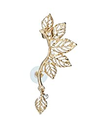 ToniQ Gold Leaf Ear Cuff