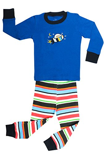 "Elowel ""Bear On The Moon"" 2 Piece Pajama Set 100% Cotton - Size 10 front-955252"