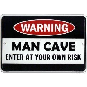 Giant-4 Foot X 2 Foot-Man Cave Sign- Enter At Your Own Risk-For SERIOUS Man Caves!!!