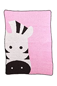 Green 3 Apparel Recycled Made in the USA Zebra Throw (Pink)