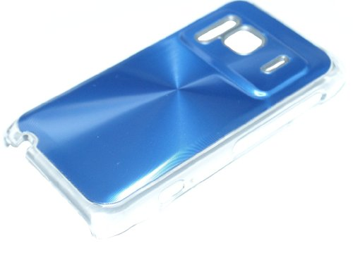 Hard Case Cover Busta Custodia per Nokia N8 azzurro blu con dietro alluminio di RBrothersTechnologie