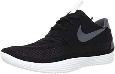 Nike Mens Solarsoft Moccasin Black/Summit White/Dark Grey 7 D - Medium