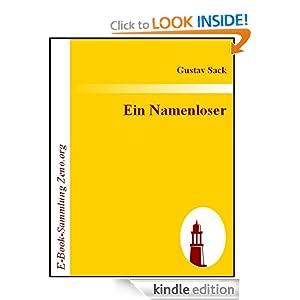 Ein Namenloser : Roman (German Edition) Gustav Sack