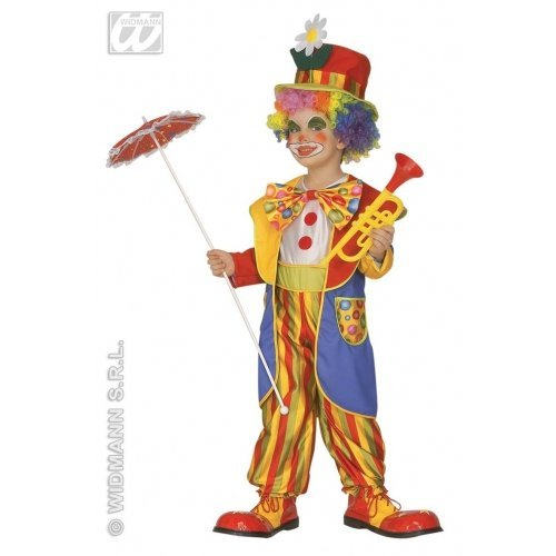 Children's Little Clown Child Costume Outfit for Circus Fancy Dress