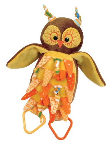 Stephan Baby Knotty Owl Ultra Soft Plush Activity Toy - 1