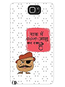 Naak Mein Dum - Bollywood Dialogues - Hard Back Case Cover for Samsung Note 5 - Superior Matte Finish - HD Printed Cases and Covers
