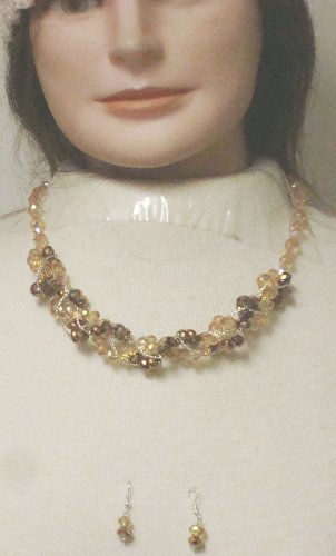 Dark and Light Amber Crystals Twisted Short Chain