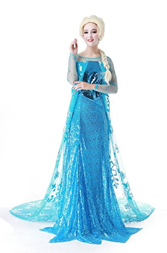Sidney Women's Cosplay Costume Makeup Frozen Party Clothing Suit