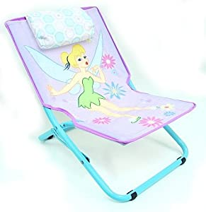 Disney Tinkerbell Kids Foldable Indoor Outdoor Sling Chair from Disney Tinkerbell