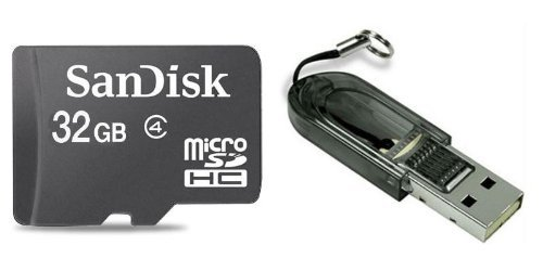 Sandisk 32GB MicroSDHC Class 4  Memory Card &amp; MicroSDHC Card Reader (Bulk)