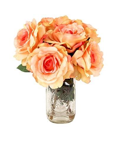Creative Displays Rose Mason Jar Bouquet, Peach
