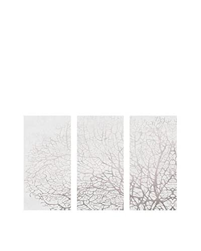 Oliver Gal Seatree Concrete Triptych Canvas Art