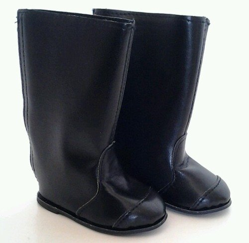 BLACK TALL RIDING BOOTS FOR AMERICAN GIRL DOLLS