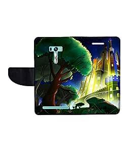 KolorEdge Printed Flip Cover For Asus Zenfone Selfie ZD551KL Multicolor -(1479-55KeMLogo09938ZenSelfie)
