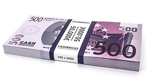 100 x €500 EURO soldi per giocare - Cashbricks®