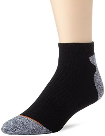 Rockport Men's 2 Pair Pack Outlast Light Trekking Quarter Socks, Black, 10-13