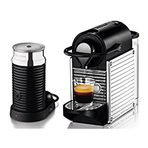 krups nespresso pixie coffee maker with aeroccino chrome xn301d40 kitchen home. Black Bedroom Furniture Sets. Home Design Ideas