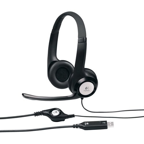 Logitech, Inc Usb Headset, Padded, Volume/Mute Controls, Black