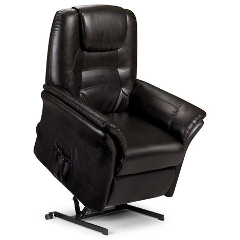 Riva Armchair - Motorised Rise and Recline - Faux Leather - Brown