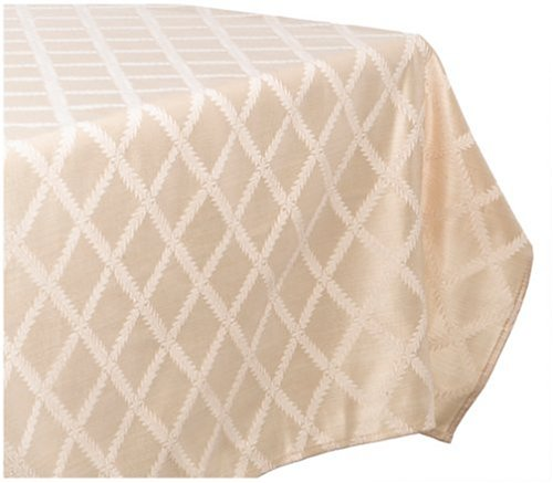 Ivory Laurel Leaf Oblong / Rectangle Tablecloth by Lenox