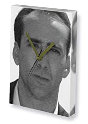 NICHOLAS CAGE - Canvas Clock (A4 - Signed by the Artist) #js005