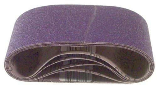 3M 81433 4-Inch x 24-Inch Purple Regalite Resin Bond 120 Grit Cloth Sanding Belt, Pack of 5