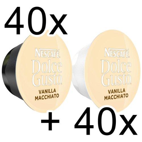 80 x Nescafé Dolce Gusto Latte Macchiato Vanilla, 80 Capsules (40 Servings)