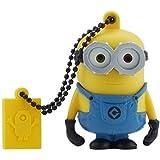 Tribe FD021520 Minions Despicable Me Bob USB Stick 16GB Pen Drive, Gift Idea 3D Figure, PVC USB Gadget with Key holder Key Ring, Yellow
