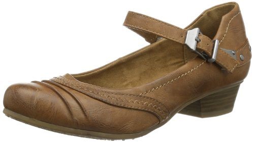 Tamaris Womens TAMARIS Closed Brown Braun (CHESTNUT UNI 329) Size: 5 (38 EU)