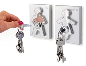 His and Her Key Holders the Couple Human Key Holders (Set of 2) Perfect House Warming Gift for Couples and Newlyweds