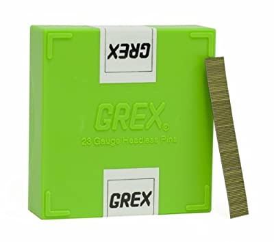 GREX P6/12L 23 Gauge 1/2-Inch Length Headless Pins (10,000 per box)