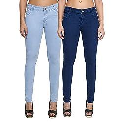 Cladien (Since 1958), Cotton Lycra, Women Jeans Combo, Pack of 2 (28)