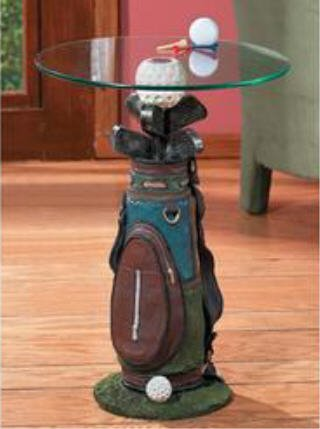 Buy low price golf bag golfbag golfing side accent for Golf coffee table