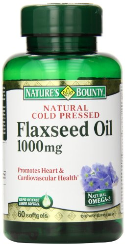 Nature'S Bounty Flaxseed Oil 1000 Mg, 60 Count
