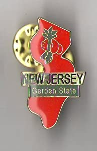 State Shaped Pin, Hat, Tie, Lapel, Etc. All States Available (New Jersey)