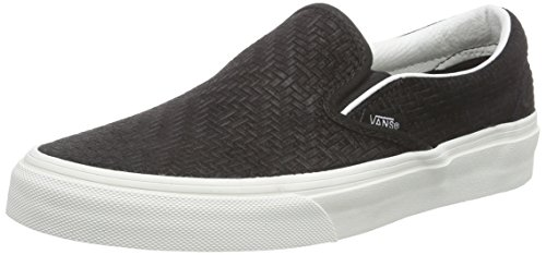 Vans U Classic Slip-on Sneaker, Unisex Adulto, Nero (braided Suede/black), 42